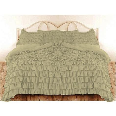 beige ruffle comforter full beige ruffle duvet cover set egyptian cotton 1000