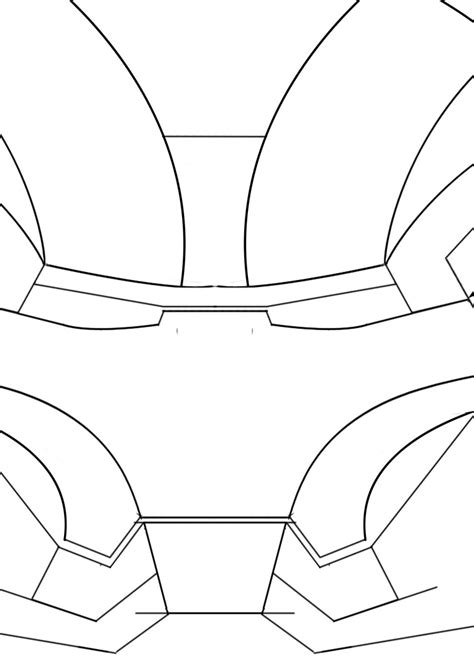 ironman helmet template iron helmet partial template for sintra