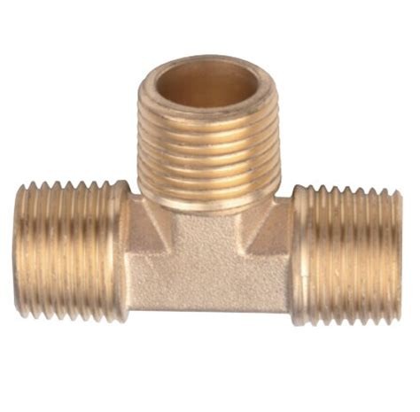 copper male screw equal tee pipe fittings from china