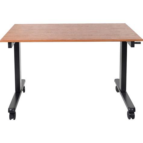 Crank Adjustable Desk by Luxor 48 Quot Crank Adjustable Stand Up Desk Standcf48 Bk Tk