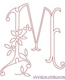 embroidery templates letters monogram for embroidery m needlenthread