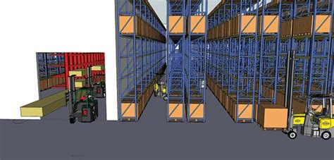warehouse layout in logistics combilift not just forklifts park logistics supply
