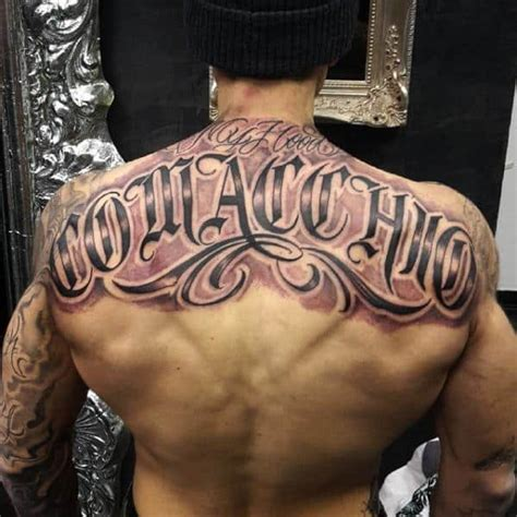 Chicano And Lowrider Tattoos Designs Inkdoneright Com Tattoos Of Names On Back