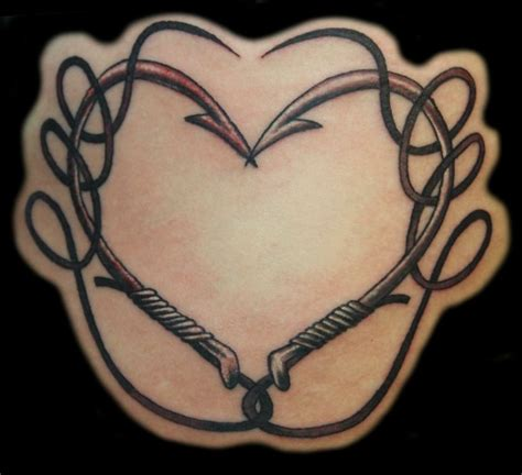fish hook heart tattoo mikeys portfolio