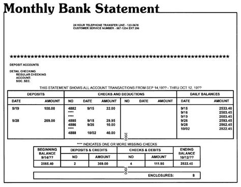 monthly bank statement template monthly bank statement 12018 588