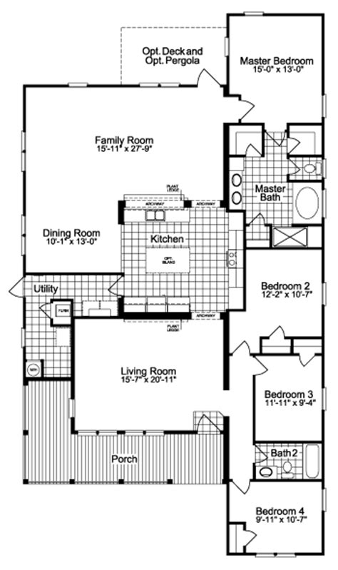 palm harbor floor plans the la linda ii scwd76z1 triple wide home floor plan