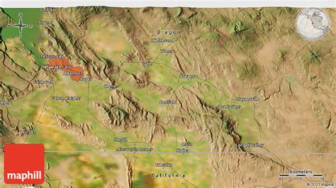 3d map of oregon satellite 3d map of langell valley