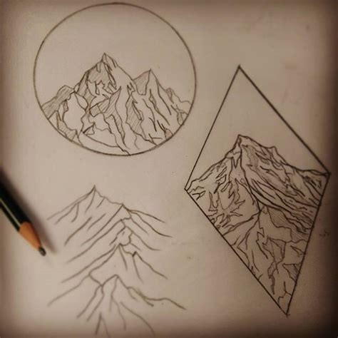 simple nature tattoos best 25 simple mountain ideas on