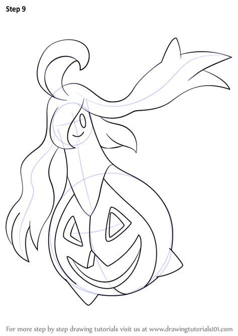 step  step   draw gourgeist  pokemon