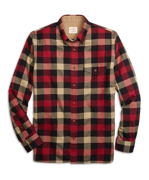 Broos Flanel 1 brothers buffalo check flannel sport shirt for lyst