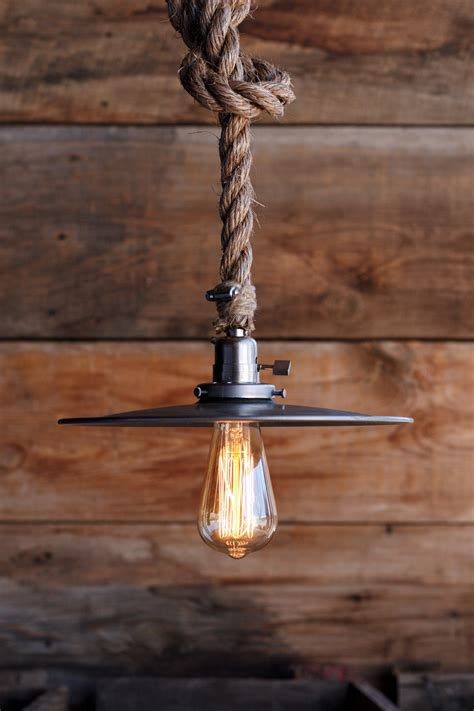 rustic pendant pendant lighting by fredeco lighting lighting pendant metal hanging rope pendant light steel