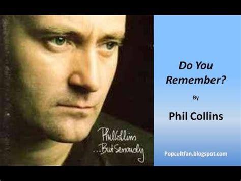 phil collins   remember lyrics youtube