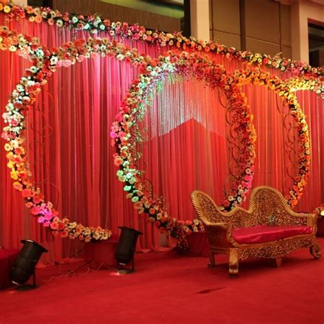 colorful traditional look indian wedding stage d 233 cor ideas