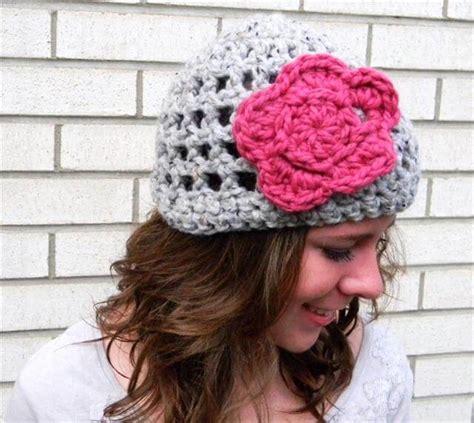 pattern crochet hat with flower crochet hat pattern with flower for women s 101 crochet