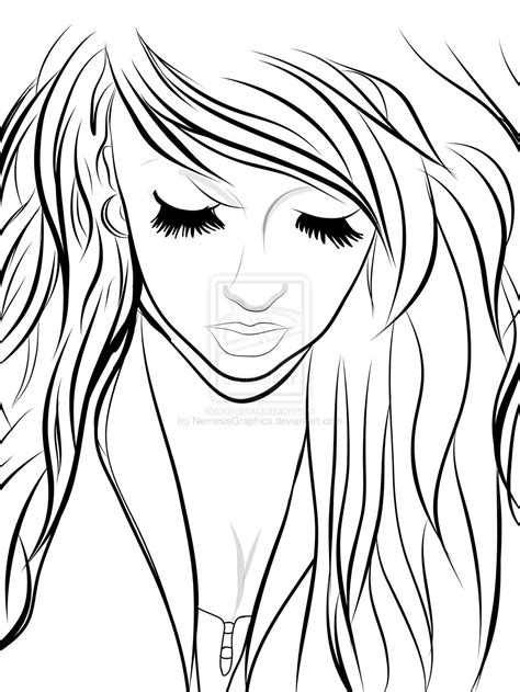 hipster girl coloring page hipster girl lineart by nemesisgraphics on deviantart