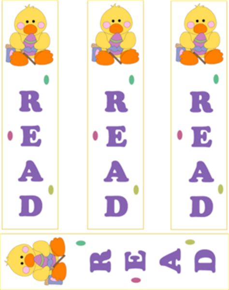 free printable easter bookmarks easter ducky bookmarks easter bookmarks free printable