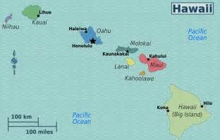 usa map with hawaii large regions map of hawaii hawaii state usa maps of