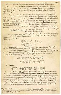 Essay On Albert Einstein by A Manuscript Page Of Albert Einstein S Paper On The General Theory Of Relativity With