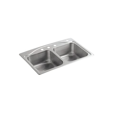 kohler drop in kitchen sinks kohler kennon drop in undermount neoroc 33 in 1 hole