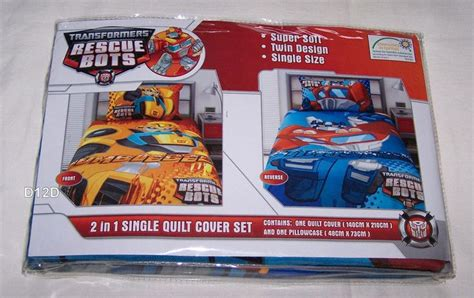 Rescue Bots Bedding transformers rescue bots reversible single bed quilt cover