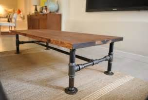Rustic Industrial Coffee Table and End Tables : Rustic