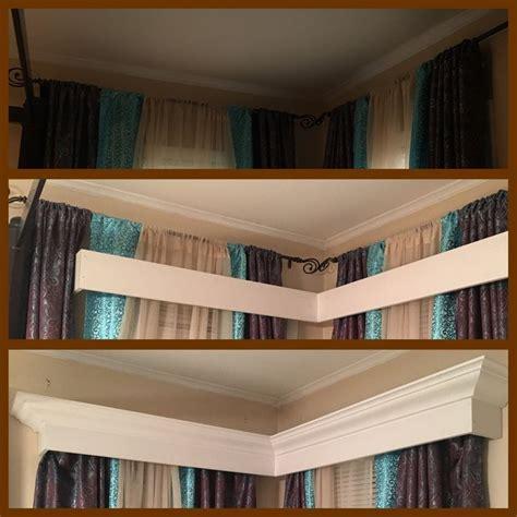 curtain crown molding 71 best columns interior decorating half wall bookshelf