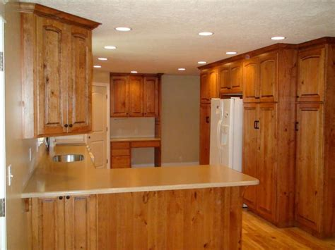 unstained kitchen cabinets rustic cherry kitchen photos