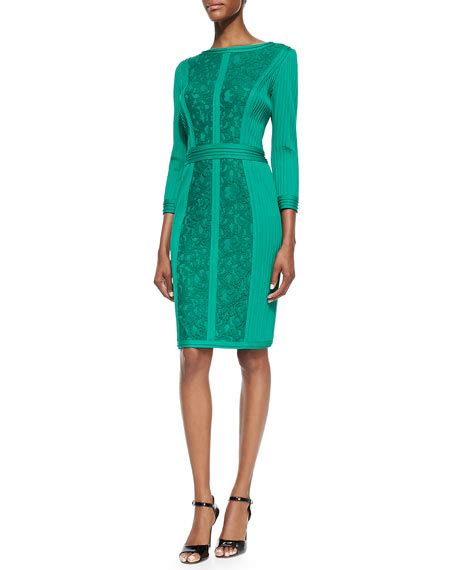 3 4 Sleeve Panel Dress tadashi shoji 3 4 sleeve panel cocktail dress