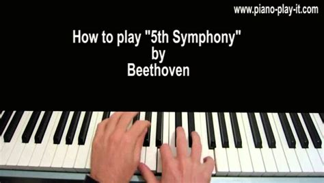 tutorial piano beethoven beethoven symphony no 5 in c minor op 67 piano tutorial