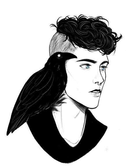 Ronan the raven cycle fan art | I love Maggie Steifvater