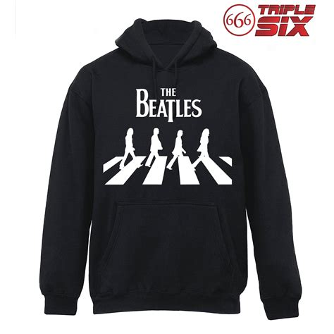 Kaos Pria The Beatles Umbrella jaket hoodie the beatles road elevenia