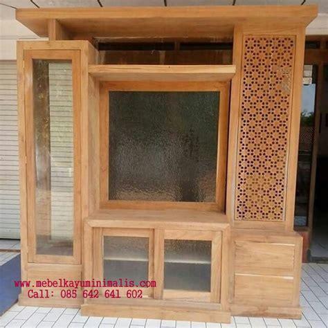 Almari Partisi Minimalis Bofet Tv Minimalis jual partisi buffet tv jati minimalis mebel kayu minimalis