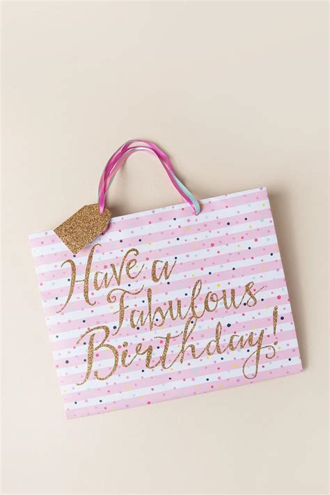 Fab Gift Guide Bag by A Fabulous Birthday Large Striped Gift Bag S