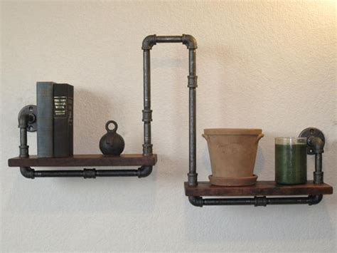 plumbing pipe bookcase shelves with plumbing pipe diy