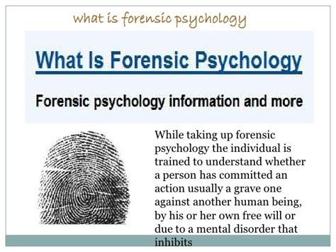 Forensic Psychology Description by Getting Knowledge On What Is Forensic Psychology