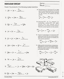 tom schoderbek chemistry nuclear decay half lives worksheet