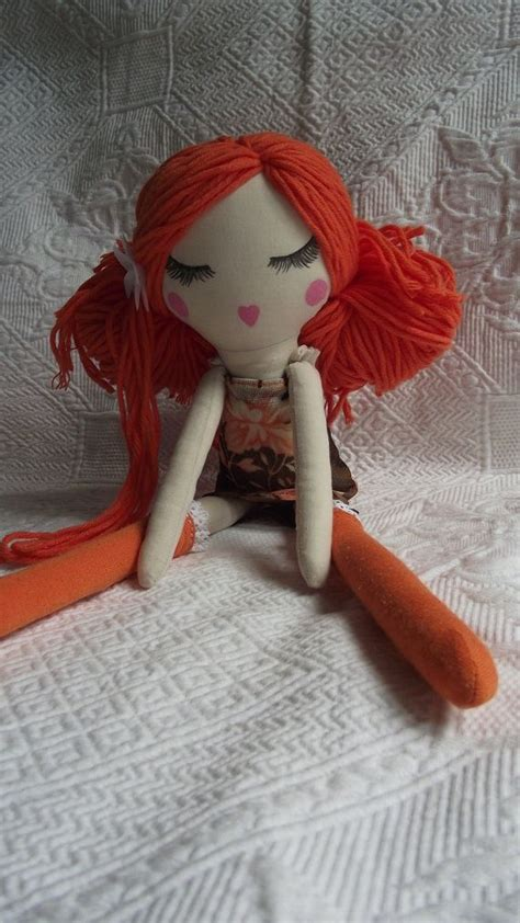 rag and doll zoe dress handmade cloth doll zo 233 sold by papillotecreations on etsy