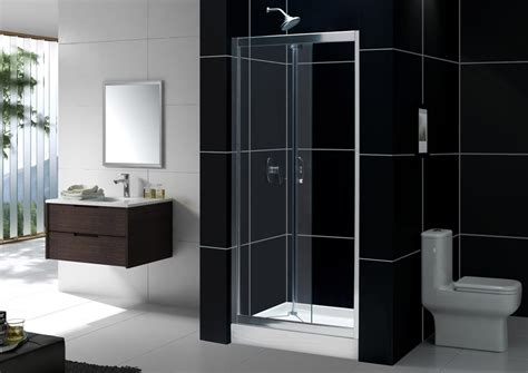 Folding Glass Shower Door 34 36 Quot Bifold Frameless Glass Shower Door Tempered Chrome Reversible Right Left Ebay