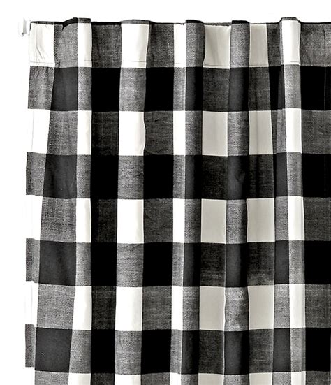 Black And White Checkered Curtains Black And White Gingham Curtains Soozone