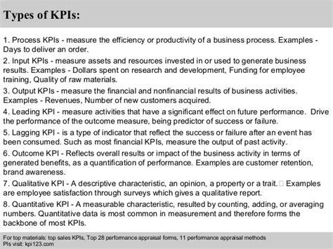 kpi performance review template fashion sales representative kpi