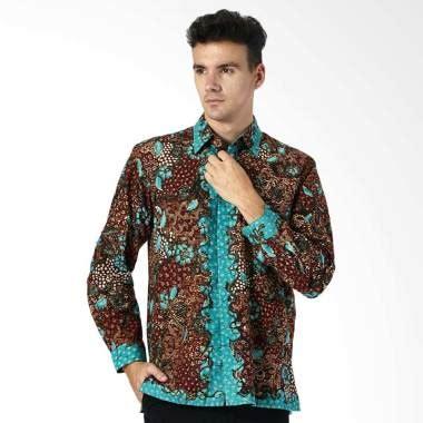 jual aamir kinsler tulis lasem exclusive kemeja batik pria multibrown btu28 harga
