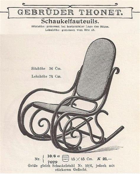 schaukelstuhl thonet thonet schaukelstuhl 1910