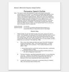 Monroes Motivated Sequence Outline Driving by Persuasive Speech Outline Template 15 Exles Sles Formats