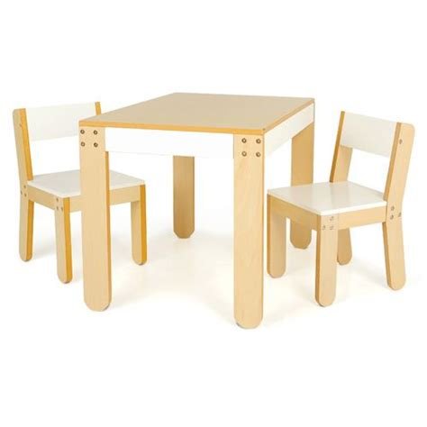 Toddler Table And Chairs by P Kolino One S Table And Chairs White Pkfftcwht