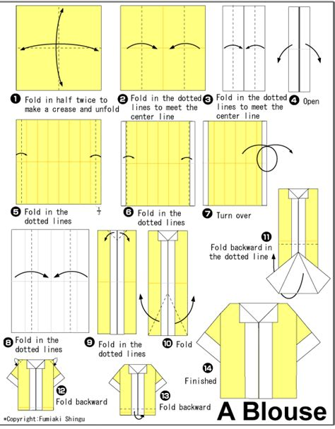 How To Fold Origami Dress - origami blouse origami paper origami