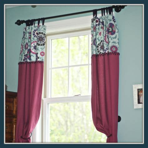 Curtains Marvelous Curtains With 2 Different Fabrics 10