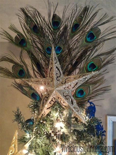 feather tree topper ansley designs peacock tree