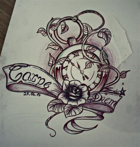 carpe diem tattoo design by sukis brain artwork on deviantart