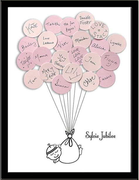 Alternative Baby Shower by Baby Shower Guest Book Alternative Print By Sayanythingdesign