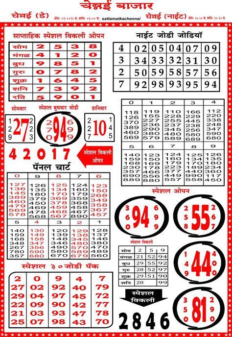 kalyan panel chart kalyan panel chart matka chennai satta matka